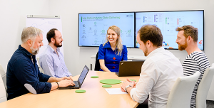 Cybersecurity Agile Coach Teammeeting